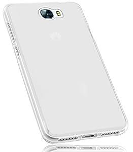 mumbi Funda Compatible con Huawei Y6 II Compact Caja del teléfono móvil, Blanco Transparente
