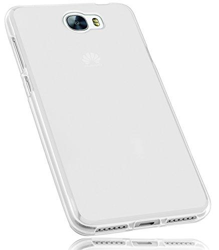 mumbi Hülle kompatibel mit Huawei Y6 II compact Handy Case Handyhülle, transparent Weiss