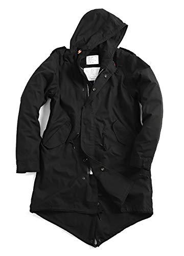 UNILETS Black Military M-51 Army Fishtail Parka Jacket with Liner. (XS, Black)
