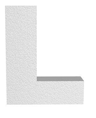 Lettera 3D in polistirolo (10 cm) 2 cm spessore - SCEGLI LA LATTERA - - L