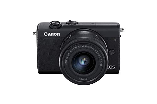 Canon EOS M200 - Cámara Mirrorless de 24.1 MP (EF15-45mm f/3.5-6.3 IS STM), negro