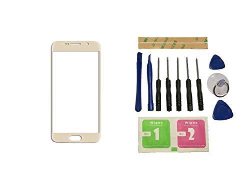 Flügel voor Samsung Galaxy S7 G930 G9300 G930F SM-G9308 Voorste buitenste glazen lens Goud (geen Digitizer geen LCD-scherm) Reparatie vervangend onderdeel + gereedschap + lijm