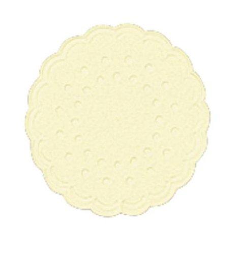Tassenuntersetzer - Ø 7,5 cm, creme, 25 Stück