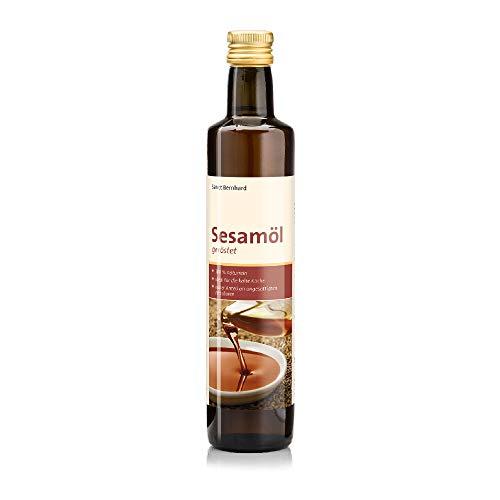 Sanct Bernhard Sesamöl geröstet mit intensivem, nussigen Geschmack, 500 ml Glasflasche