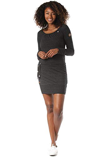 Ragwear Damen Alexa Jerseykleid schwarz L
