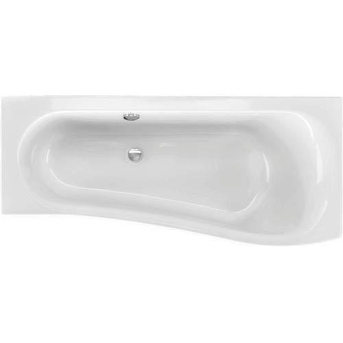 Acryl Raumsparwanne Melrose 170 x 75 cm rechts weiß Wanne Badewanne Eckbadewanne - Styropor Wannenträger (mit Wannenträger)