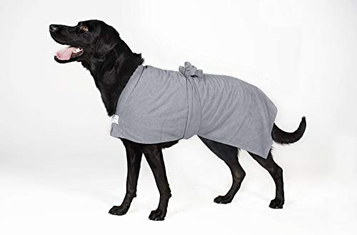 Toby and Alexander Super Absorbent Quick Drying Microfiber Towel Dog Bath Robe XXL Grey product image