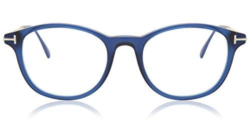 Eyeglasses Tom Ford FT 5553 -B 090 Shiny Transparent Blue, Palladium/Blue Bloc,...