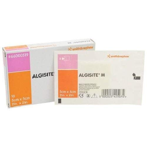 Smith & Nephew Algisite M Calcium Alginate Wound Dressing, 5cm x 5cm, Pack of 10