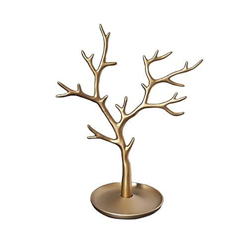 LXX - Espositore per gioielli e gioielli, per la casa, con ciondolo, orecchini, collane, organizer per riporre oggetti (oro)