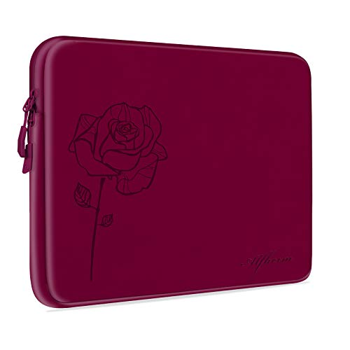 Alfheim Custodia per Laptop da 14 Pollici, Custodia Protettiva per Laptop Resistente agli Urti Impermeabile, Cover per Laptop Fiore più Spessa e Leggera per Donna