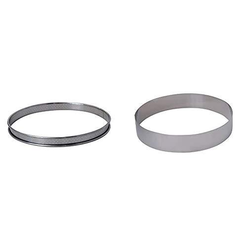 DE BUYER -3093.22 -cercle a tarte inox perfore ht2 ø22 cm & 3989.20 -cercle collectivite inox ht 45 ø20