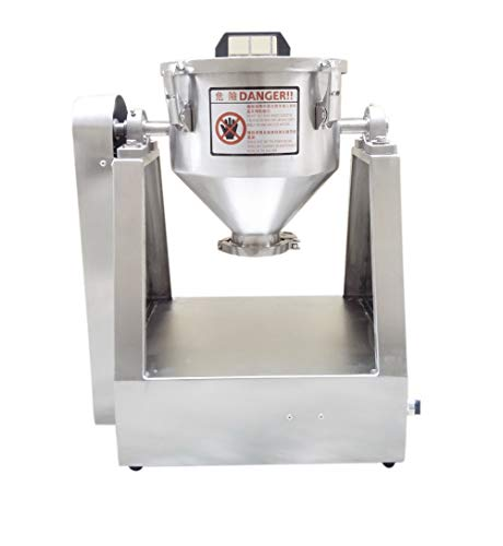 YUCHENGTECH 10L Lab Trockenpulvermischer Mischmaschine Partikelmischer Pulvermischer Granulatmischer für Lebensmittelchemikalien Medical 0-33 U/min (10L(2-5kg) 110V)