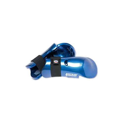 Pro Force Lightning Punches Karate Sparring Gloves - Blue - Small