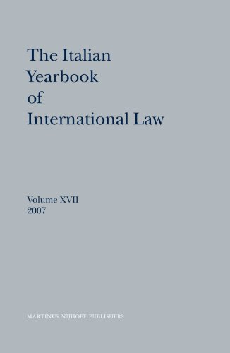 The Italian Yearbook of International Law, 2007