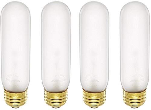 Bulbrite 40T10F 40-Watt Incandescent T10 Tubular Light, Frost (Frost - 4 Pack)