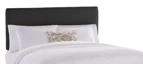 Big Sale Best Cheap Deals Skyline Furniture Wells Street California King Upholstered Headboard, Black Micro-Suede