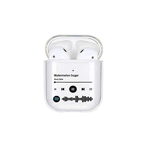 Xiongtai Funda Personalizada para Airpods, Funda Personalizada para Airpods con música, música de Spotify, álbum de Canciones, Funda acrílica para Auriculares inalámbricos, Regalo DIY