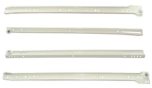 AERZETIX: Par de guías de rodillo correderas para cajones 25kg (50cm)