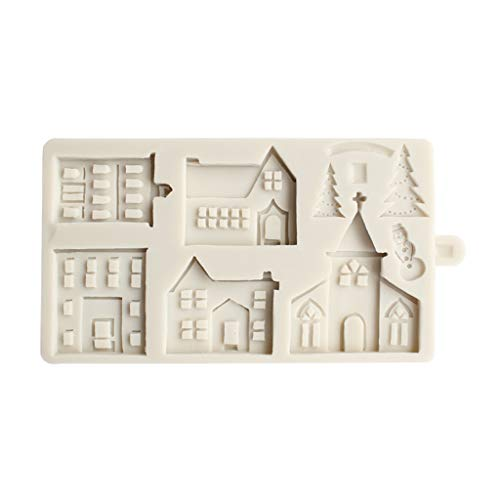 Stampo In Silicone A Forma Di Casetta Di Natale, In 3D, Per Decorare Torte, Cioccolato, Pasta Di Zucchero
