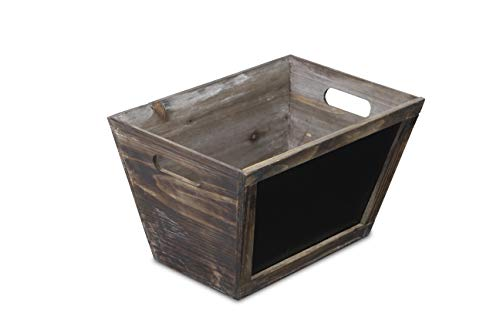 Cheung's Wooden Storage Bin with Chalkboard Front| Large