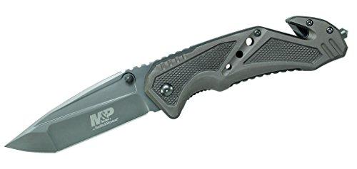 Smith & Wesson Rettungsmesser - Stahl 7Cr17MoV - beschichtet - Liner Lock - Aluminiumschalen - Gurtschneider - Schlagdorn