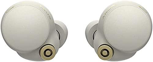 Sony WF-1000XM4 Noise Canceling Wireless Earbud Headphones - Silver (Renewed)