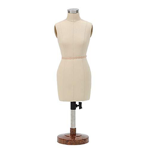 TQJ Maniquies para Costura Pequeño modistas maniquí Femenino, 1: 2 Escala de Altura Ajustable, Sastre maniquíes Muñeca Mini Forma del Vestido Display decoración de los Accesorios de muñecas Maniquies