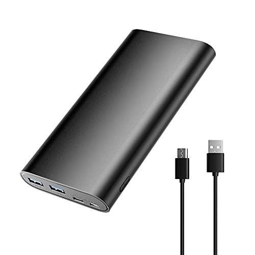 Tragbares Ladegerät Powerbank, 26800mAh(2021 neu aufgerüstet)Externer Schnelllade-Akku mit extrem hoher Kapazität,2Ausgängen und 2Eingängen, 5V Stromversorgung für iPhone 11 12 Pro/Max Tablet und mehr