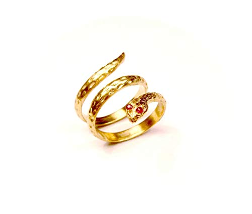 Snake Ring Neo Classic 24kt Pure Gold Plated Silver 925 Handmade