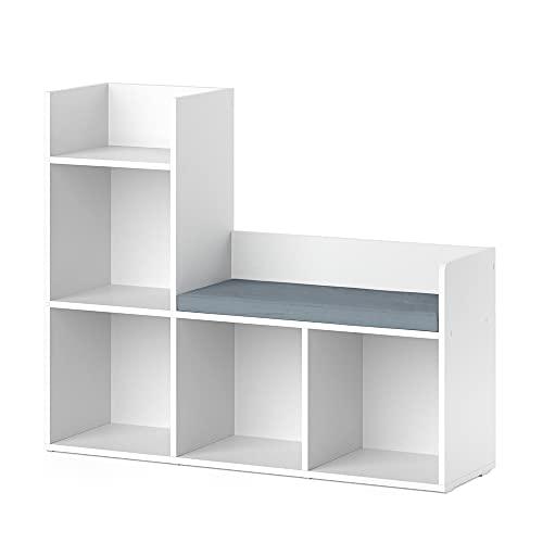 Vicco Kinderregal Sitzbank Bücherregal Luigi Spielzeugregal für Faltboxen Regal