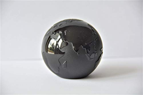 Weltkugel aus Glas, mit Stand, Ø ca. 60 mm (schwarz, 999 104c)