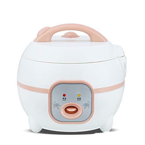 SUOMO Arrocera Electrica Mini Olla arrocera de 2.0 litros, vaporizador de Viaje portátil, Olla Antiadherente extraíble con Control de un botón y Mantenimiento automático (1-3 Personas) (Color : A)