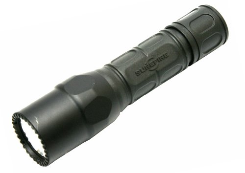 SureFire G2X Tactical Single-Output LED Flashlight with Tactical tailcap click switch, Black