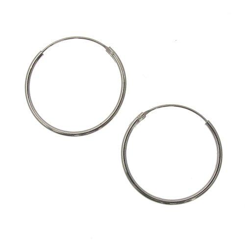 Orecchini a cerchio semplici in argento Sterling da 20 mm