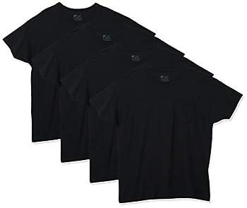 Hanes mens 4-pack Assorted Pocket T-shirt undershirts Black X-Large US