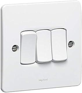 Single pole switch Synergy - 3 gang - 1 way - 10 AX 250 V - white