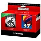 Lexmark International, Inc - Lexmark No. 36/No. 37 Black And Color Return Program Ink Cartridges - Inkjet - 175 Page Black, 150 Page Color - Black, Color 'Product Category: Print Supplies/Ink/Toner Cartridges'