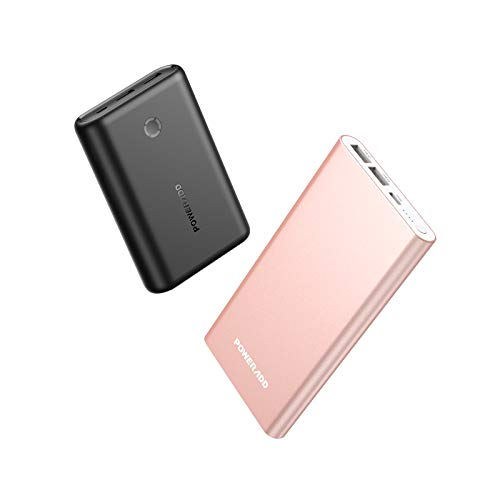 POWERADD Pilot 4GS 12000mAh 8-Pin Input Portable Charger External Battery Pack with 3A High-Speed Output Compatible with iPhone, iPad, iPod and More