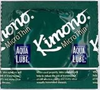 Kimono Microthin with Aqua Lube Latex Condoms, 24 Count