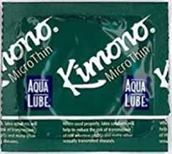 Kimono Microthin with Aqua Lube Latex Condoms, 24 Count