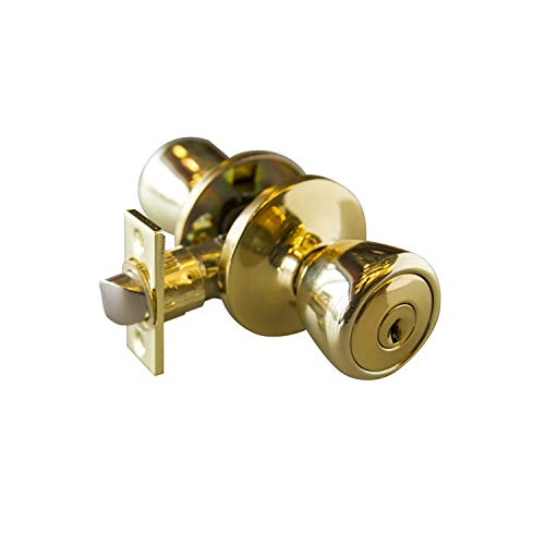 Design House 728295 Terrace 6-Way Universal Entry Door Knob, Polished Brass, 1