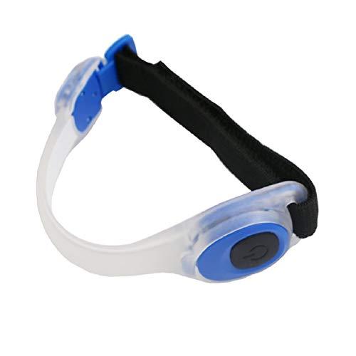 DDD1234 LED Light Armband, Flashing Light Armbänder Strap Glow Armband Safety Knöchelarmband Hochsichtbare verstellbare Armbinde, geeignet zum Laufen, Radfahren und Gehen (Blau)
