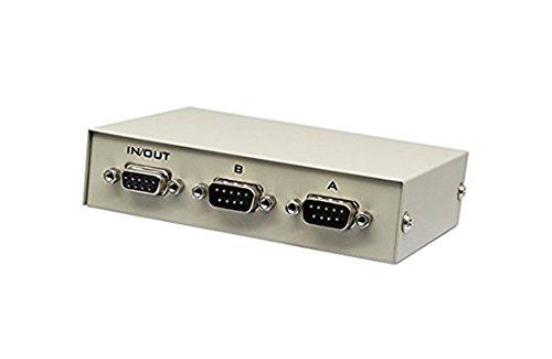 CERRXIAN Caja de conmutadores RS232 de 2 vías, carcasa de metal, 3 puertos, manual RS-232, conmutador de datos para PC compartiendo a dispositivo serie