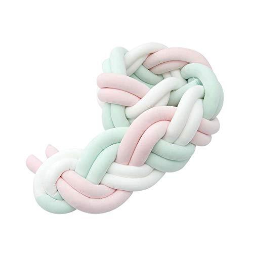 LUUDE Intrecciato Handmade Wiege Stoßstange Baby Stoßstange Knot Braid Stoßdämpfer Kissen Dekokissen für Neugeborene Bed Sonno Bumper,Style6,2m