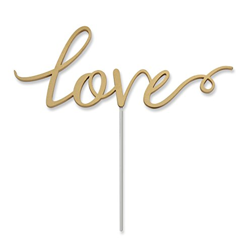 Kate Aspen Love Cake Topper, Wedding Decoration, Food Safe Acrylic