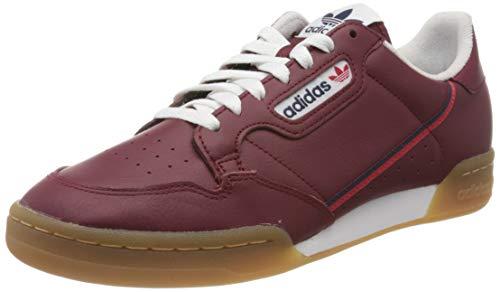 Adidas Originals Continental 80, Zapatillas para Correr para Hombre, Rojo (Collegiate Burgundy/Collegiate Navy/Scarlet Collegiate Burgundy/Collegiate Navy/Scarlet), 38 2/3 EU