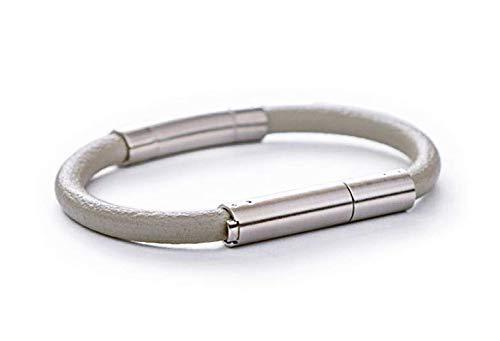 Invi Bracelet d'auto-défense (TM) | Dispositif de sûreté et de sécurité personnel non violent | Repoussez et alarmez avec une odeur de grade militaire (gris)
