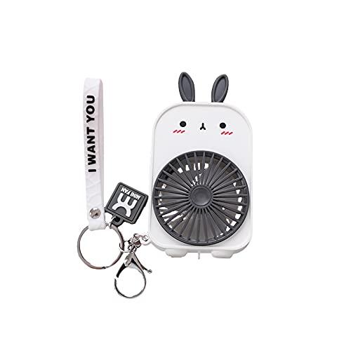 ZYLL Lujo Mini-Hold Bolsillo Ventiladores Mochila Llavero Carga USB Ventiladores al aire libre Llavero Ventilador pequeño Llaveros para mujeres Niños Gran regalo