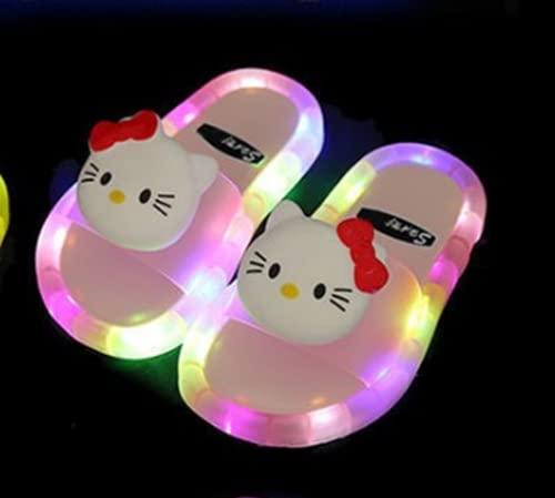 N\C Zapatos deportivos para niños y niñas, con luz LED, brillantes, para playa, para caminar, para fiestas de vacaciones, fiestas de baile, etc.
